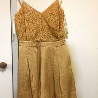 FOREVER NEW GOLD PLAYSUIT