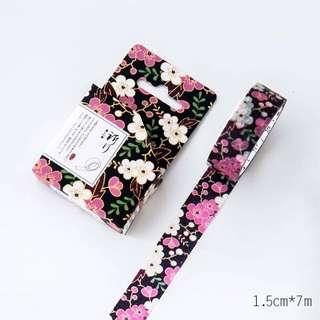 Shimmering Florals Washi Tape #61