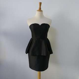 LOVE BONITO COVET Cassiela Peplum Dress