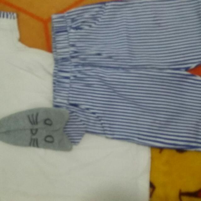 1 Set Baju Dan Celana Brand Korea