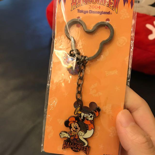 2004年迪士尼萬聖節限量米奇鑰匙圈