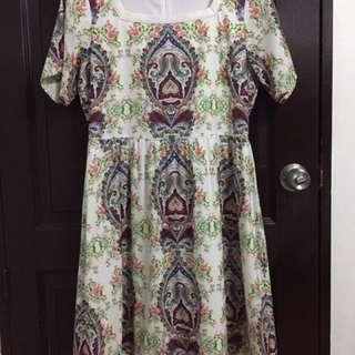 Kamiseta Printed Green Dress