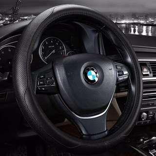 BMW真皮方向盤套 嚴選真皮 符合人體工學
