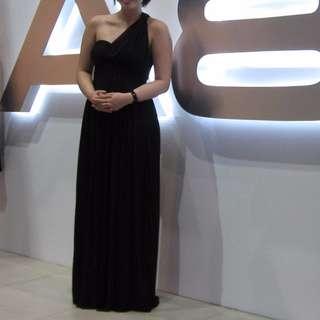Black Toga Maxi Dress
