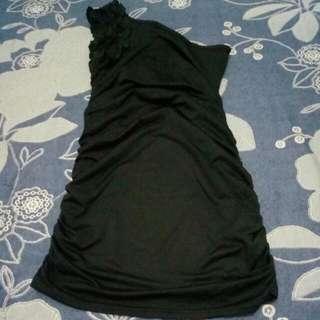 Rufflw Black Dress