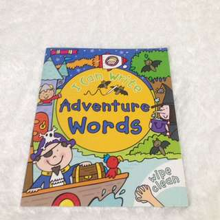 wipe and clean book - i can write adventure word