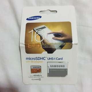 16GB Evo MicroSDHC