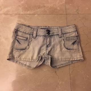 Denim Washed Jeans Shorts 淺藍色 牛仔 短褲