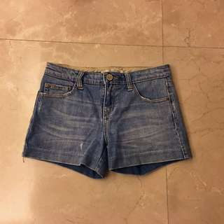 Zara Medium Blue Denim Shorts 藍色 牛仔 短褲