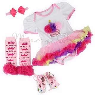 Princess Cupcake Baby Tutu Set