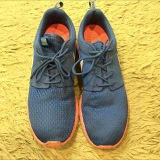 Nike正品近全新球鞋 藍橘白勾
