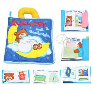Multifunction Lullaby Bear Baby Puzzle Cloth Book Toy