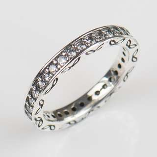New Fashion Classic Vintage silver ring Wedding 3MM CZ Real 925 Sterling silver Ring Bands Jewelry for women Gift