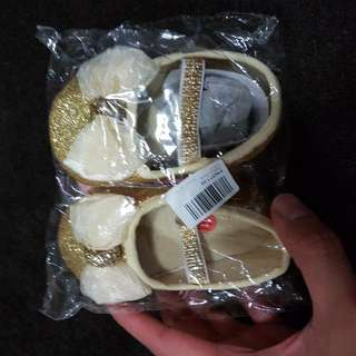 Baby Shoes Pink And Gold