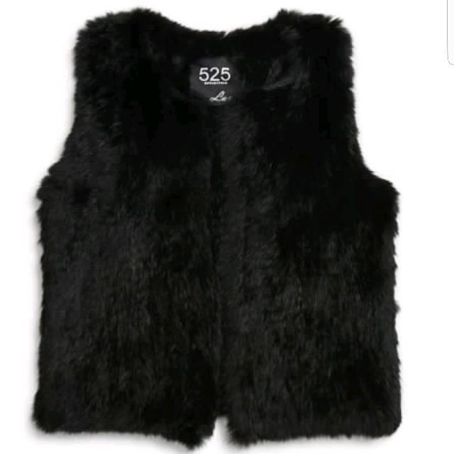 525 America Classic Real Fur Vest *MINT*