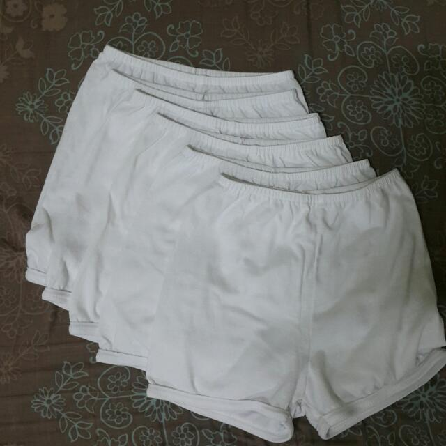 9-12 Months White Shorts (6pcs)