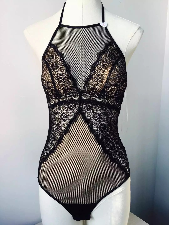 法式浪漫蕾絲連身衣內衣睡衣 【BR02751】預購 黑色.貓咪跳芭蕾