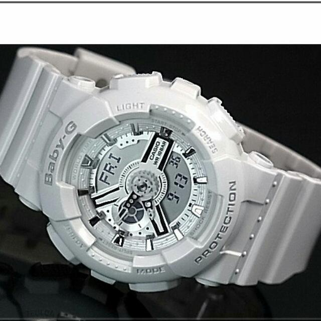 aef88b43e7 * FREE DELIVERY * Brand New 100% Authentic Casio BabyG Gloss White Baby G  Watch Baby-G BA110 7A3 BA110-7A3DR