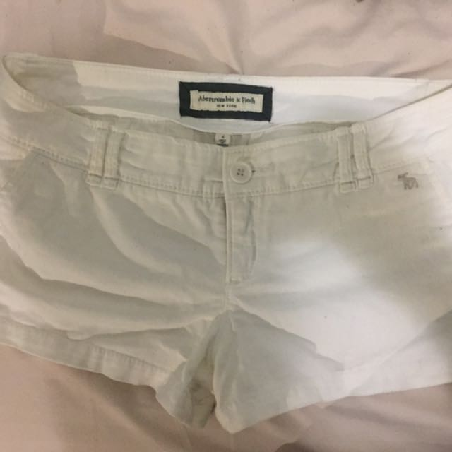 Abercrombie & Fitch White Shorts