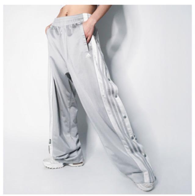 降!Adidas愛迪達 古著 側排釦落地運動褲 Idid購入