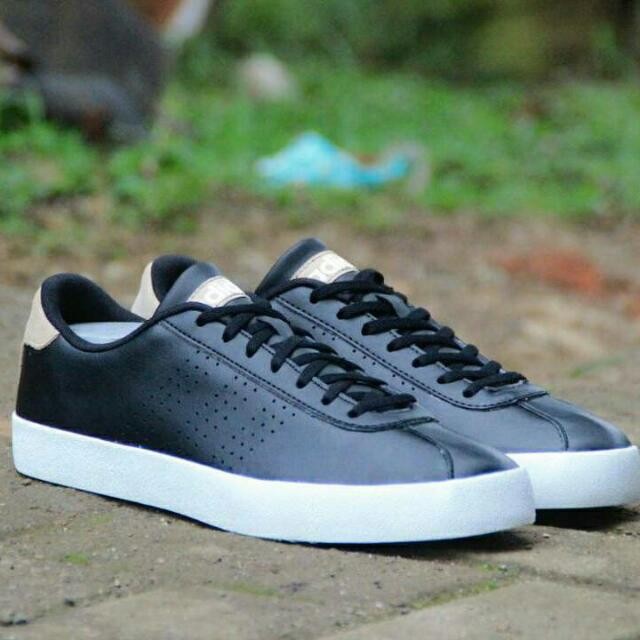 outlet store 863be 3061d Adidas Neo VL Court Black White Leather, Men s Fashion, Men s Footwear on  Carousell