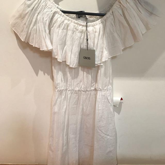 ASOS OFF THE SHOULDER DRESS US 4