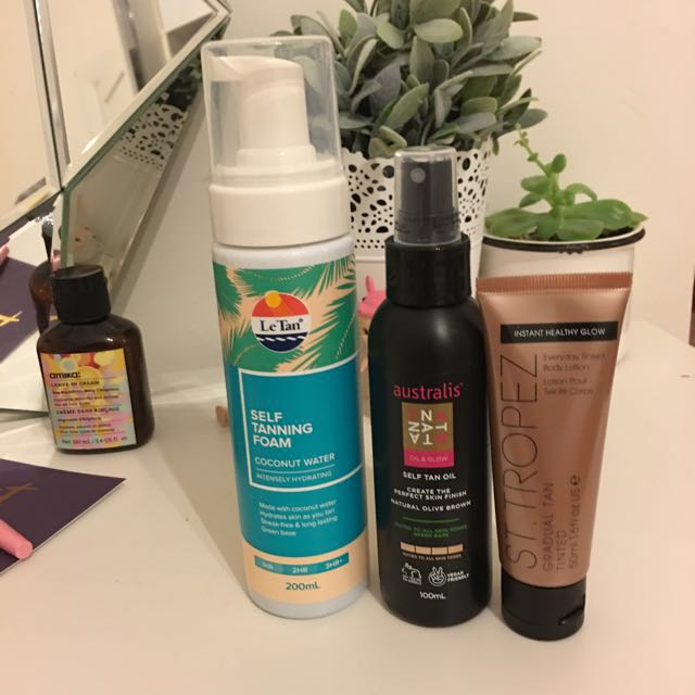 Assorted Tanning Products