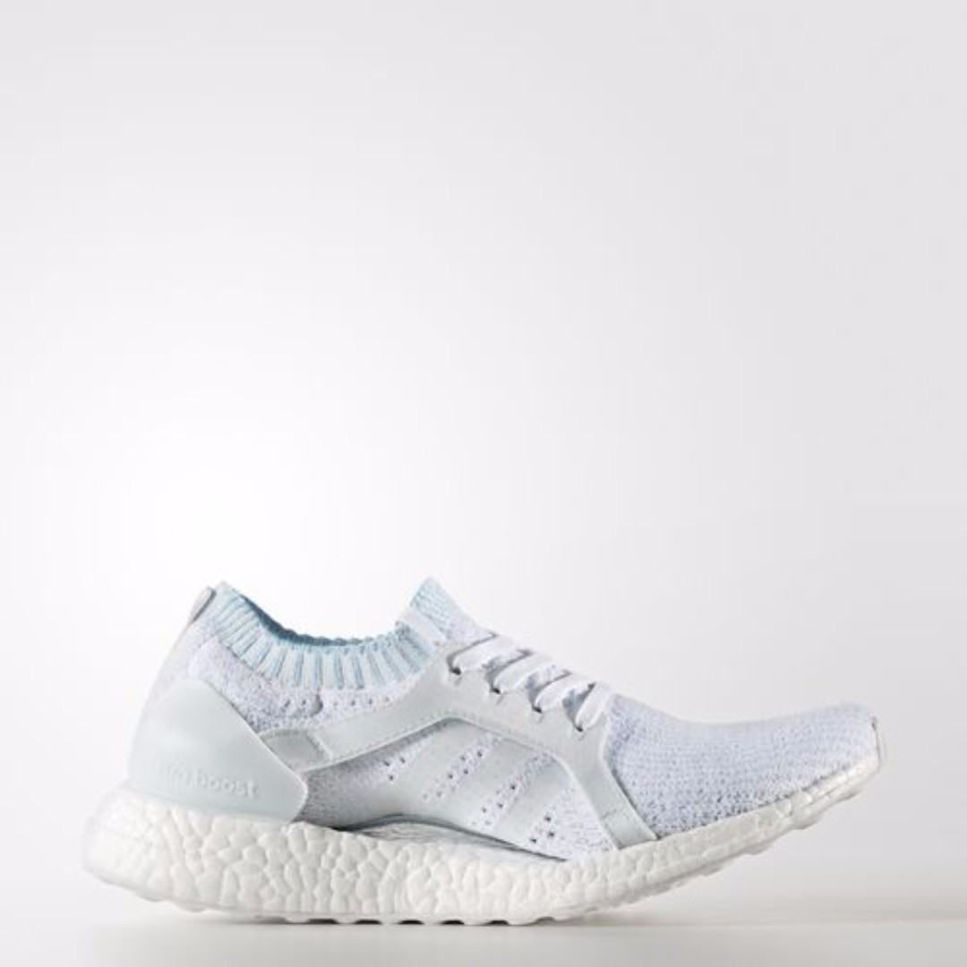 best sneakers 7a56a 4a937 Authentic Adidas Ultra Boost X Parley Women's Originals ( White/ Icey Blue )