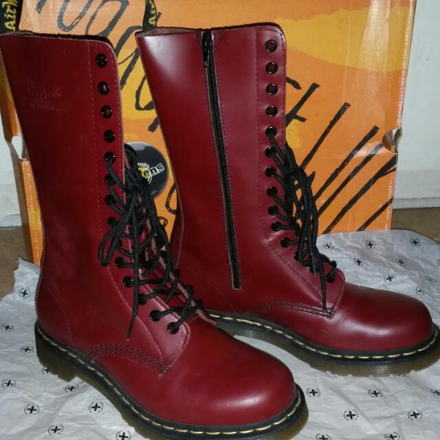 Authentic Doc Martens Airwair 1914 W Cherry Red Rouge