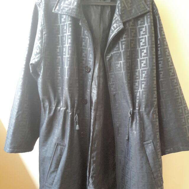 Authentic Fendi Leather Jacket From Italy