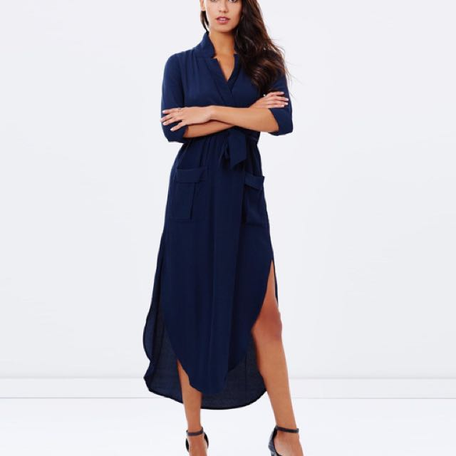 Bardot Long Sleeve Shirt Dress