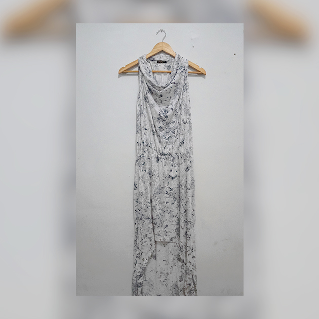 Beach Dress // Long Dress Hitam Putih