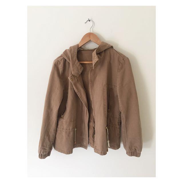 Tan Jacket   Size 12