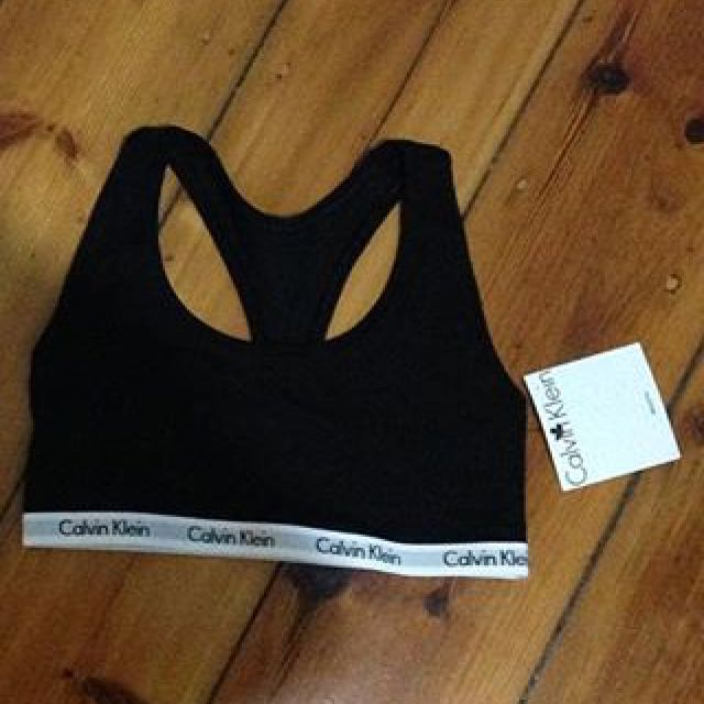 Black Calvin Klein Crop Size Small