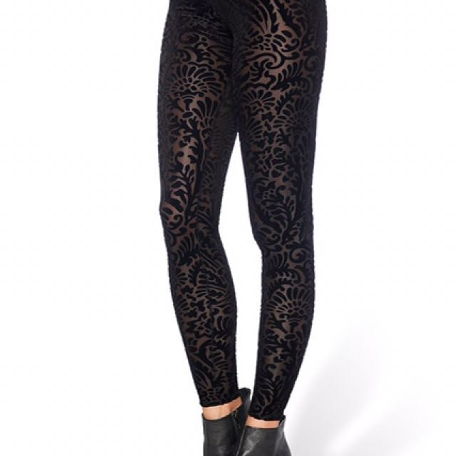 Black Milk Burnt Velvet Leggings