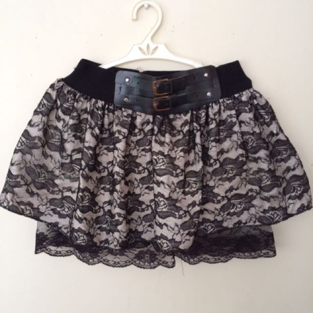 Black with Design Skirt