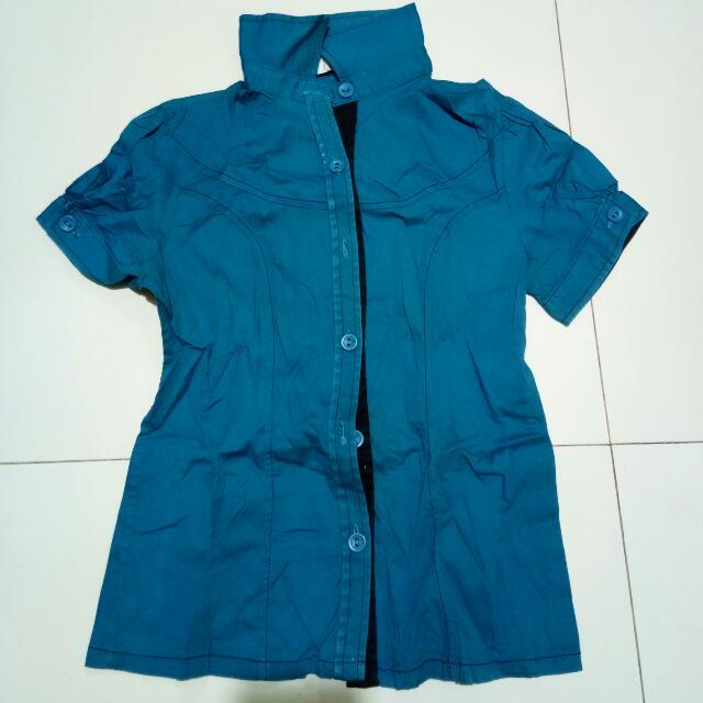 Blouse Blue Green