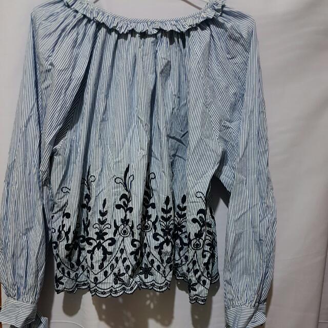 Blouse Zara In Blue