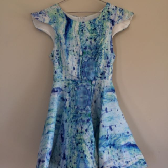 Blue Splash Dress