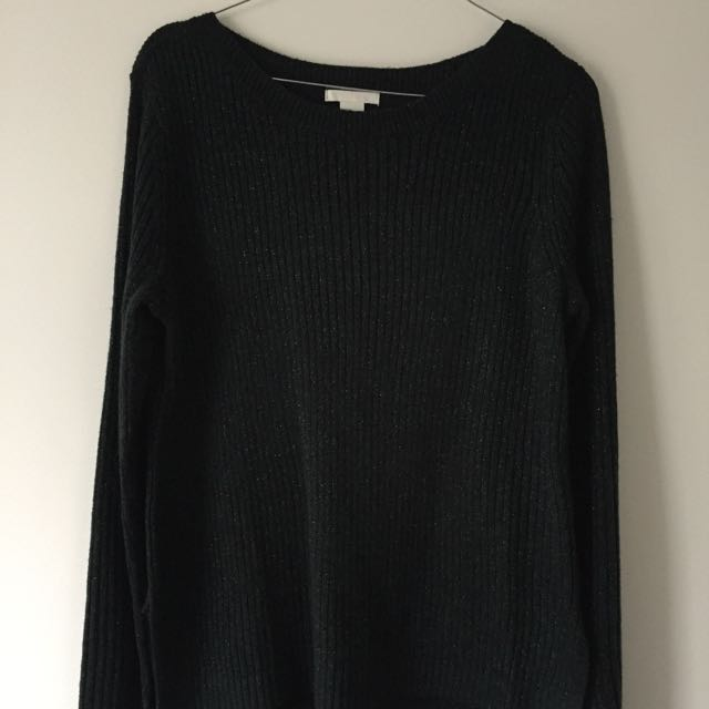 BNWOT H&M Dark Green Jumper Size M