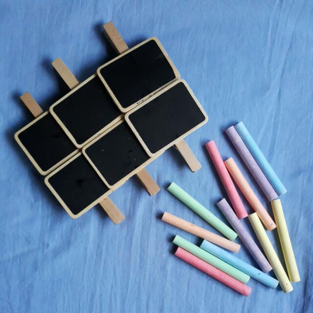 BUNDLE - Chalkboard-on-clip + Chalk