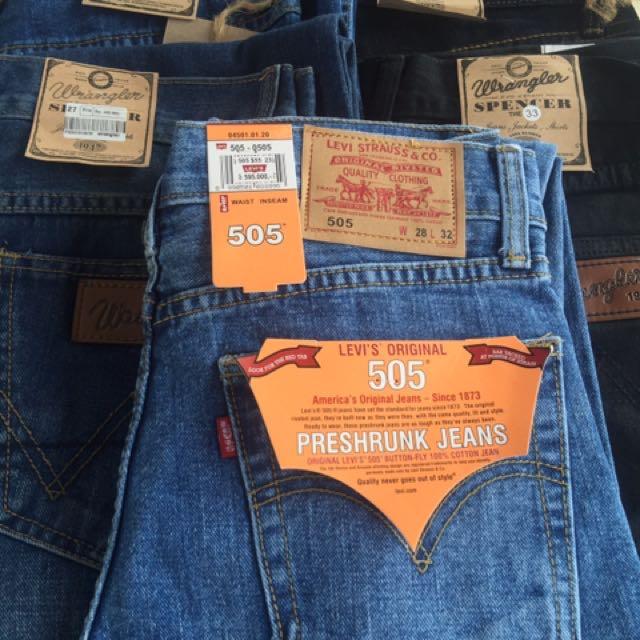 Celana Jeans Levi's 501, 505 dan Wrengler