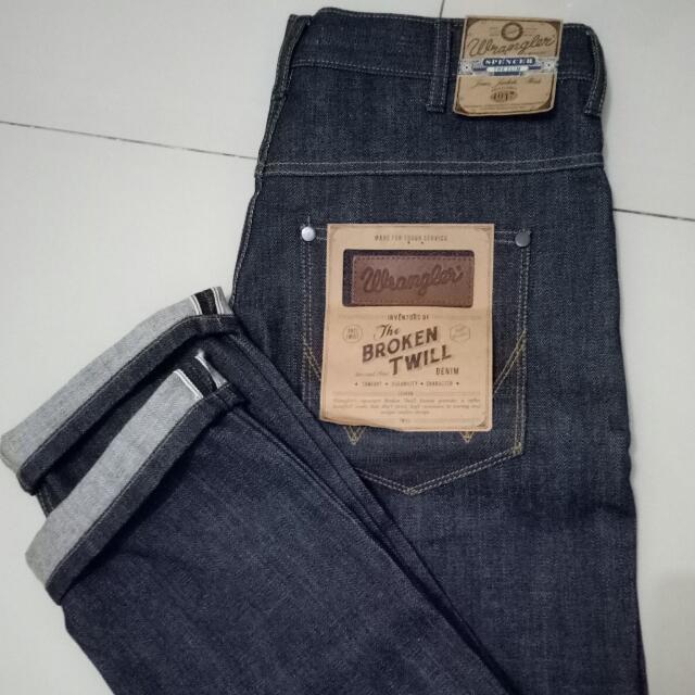 Celana Jeans Wrangler Selvedge Salvage Ori
