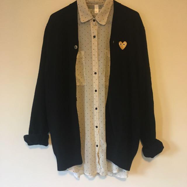 Comme des Garçons Woollen Cardigan XL