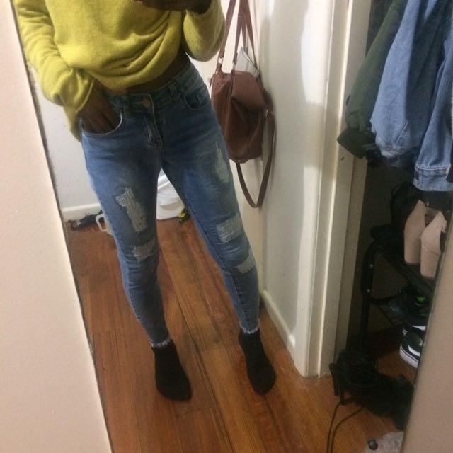Cotton On Hem Flared Jeans