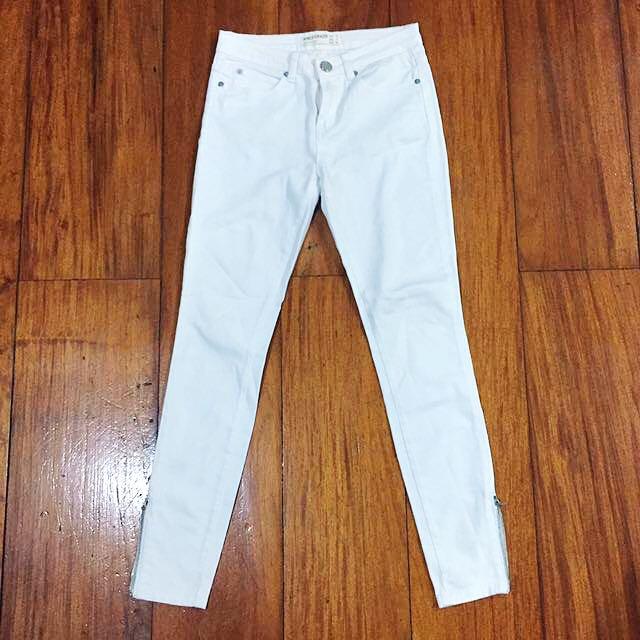 Cotton On White Ankle Grazer Jeans