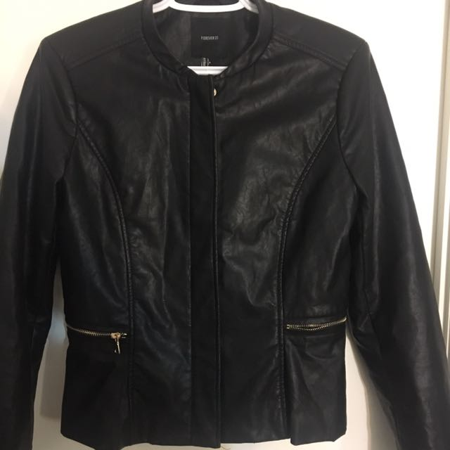 Cute Forever21 Leather Jacket