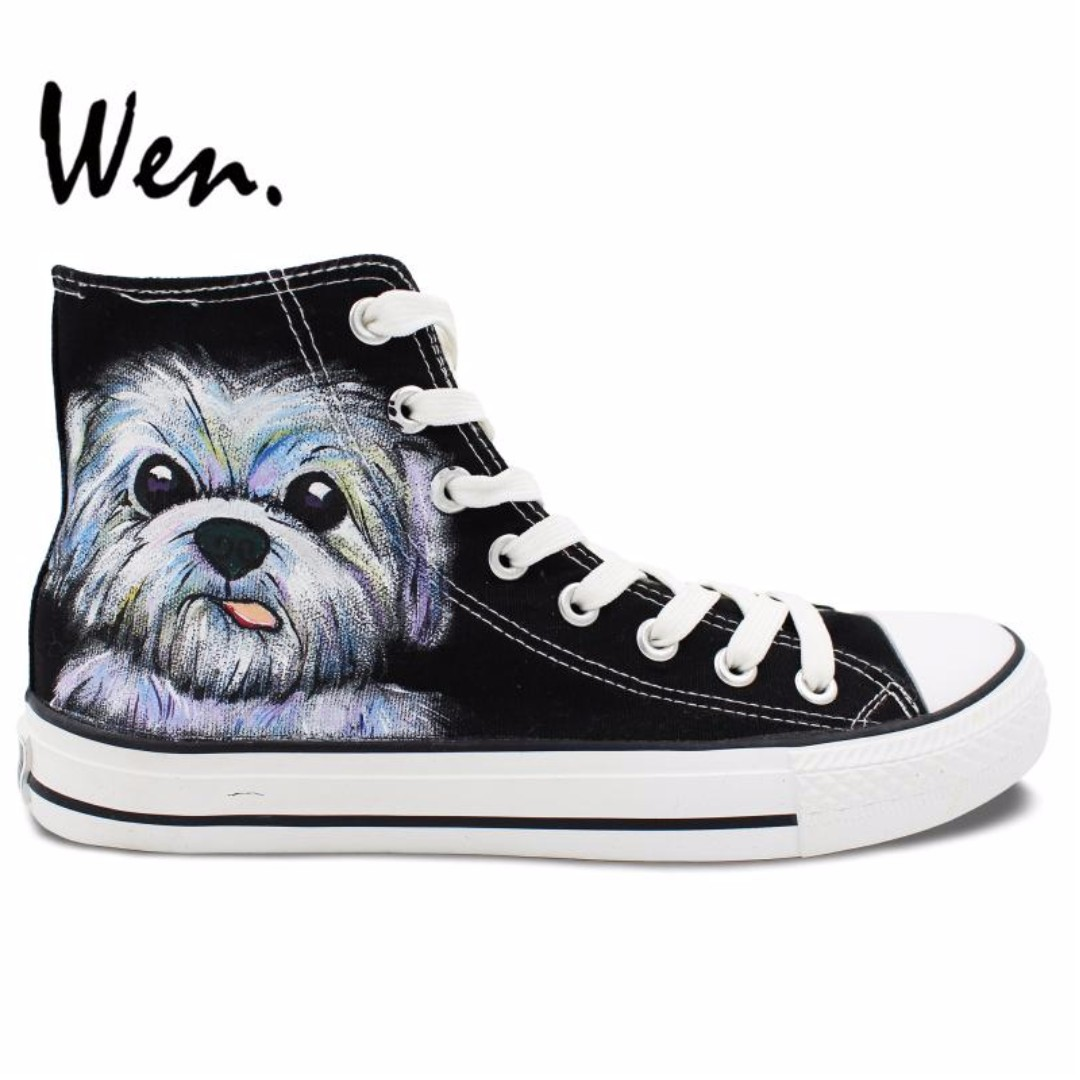 Dog Hand Painted Shoes