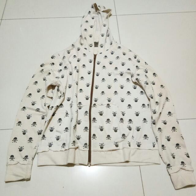 White Printed Jacket