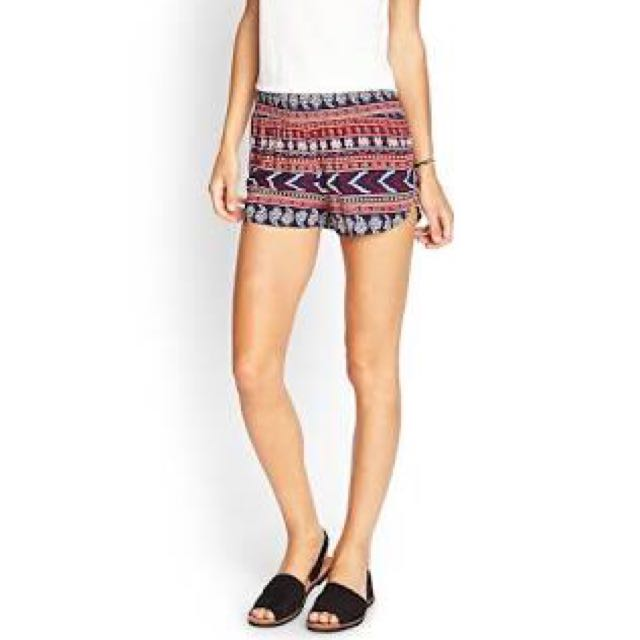F21 Tribal Woven Shorts